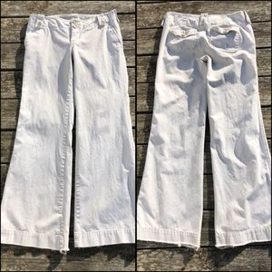 🆕List! VTG 6 LONG A&F Flare Khaki Jeans! VGUC!